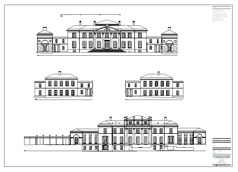 land and building survey of a stately home
