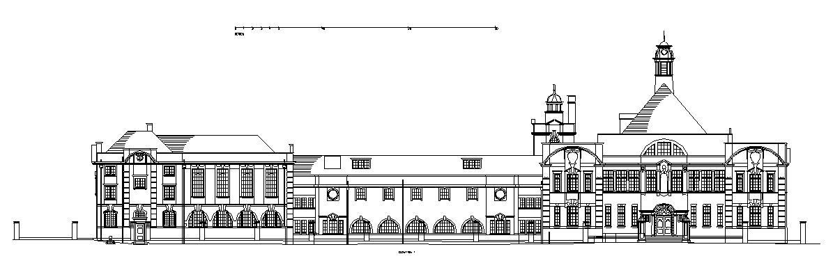 building floor plans of a school in East London