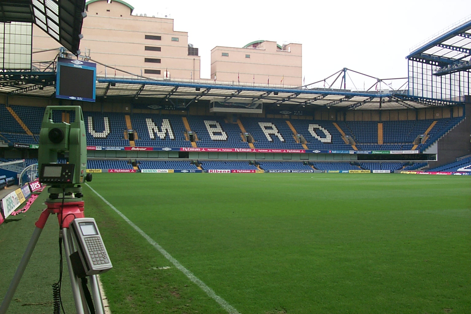 Chelsea FC pitch survey