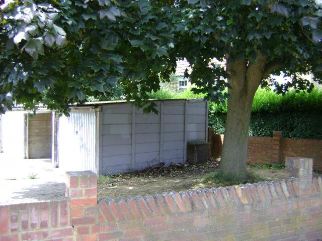 Land survey and elevations of a garage site in Ham