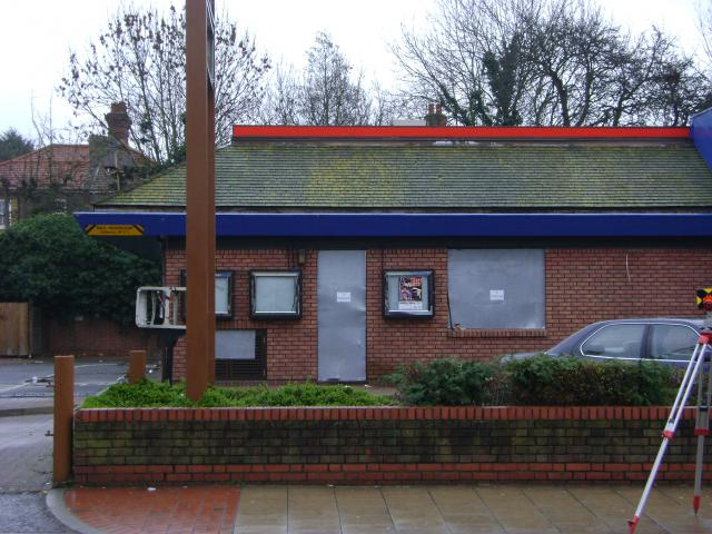 Land survey and elevations of the Burger King drive through in Sutton