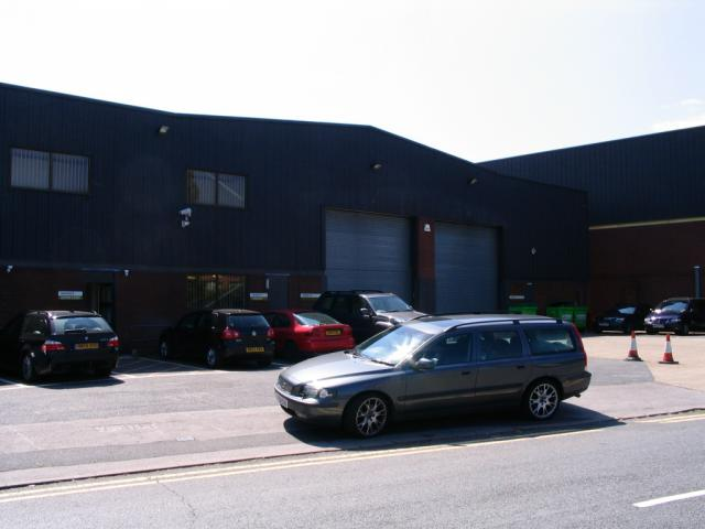 Land survey and elevations of a factory and offices in Chessington