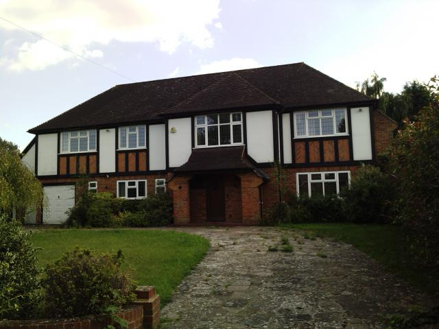 Building heights of houses in Cheam
