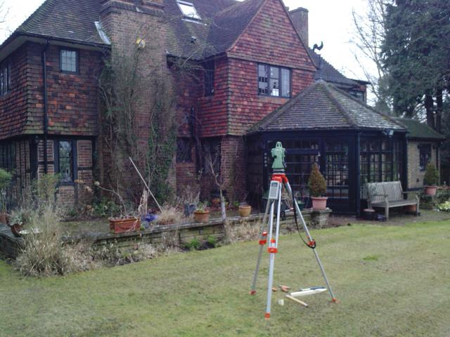 Land survey of a house in Esher